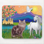Maine Coon Cat - Fantasy Land Mouse Pad