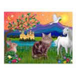 Maine Coon Cat - Fantasy Land Post Cards