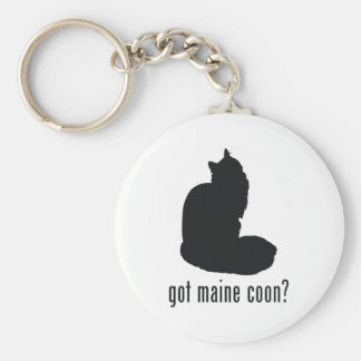 Maine Coon Cat Keychain