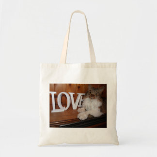 Maine Coon Cat love tote