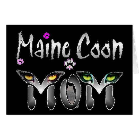 Maine Coon Cat Mom Gifts Card