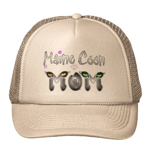 Maine Coon Cat Mom Gifts Trucker Hats