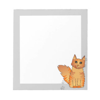 Maine Coon Cat - Orange Tabby Notepad