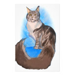 MAINE Coon Cat Personalized Stationery