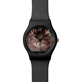 Maine Coon Cat Pet-lover's wristwatch