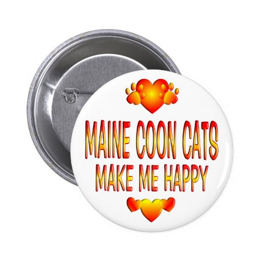 Maine Coon Cat Pinback Button