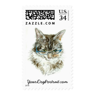 """Maine Coon Cat POSTAGE 2013 """"Cat with glasses"""""""