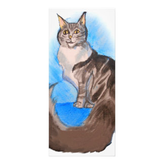 MAINE Coon Cat Full Color Rack Card