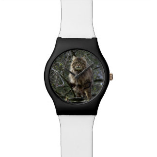 Maine Coon Cat Tabby Animal-lover Wrist Watch