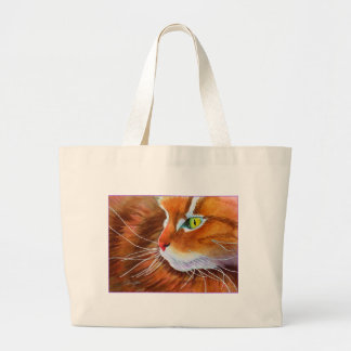 Maine Coon Cat Whiskers Large Tote Bag
