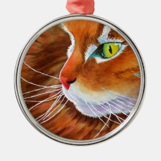 Maine Coon Cat Whiskers Metal Ornament
