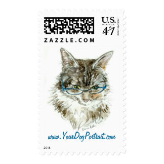 Maine Coon Cat with Glasses 46 cent postage