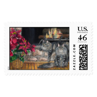 Maine Coon Christmas Postage - Large