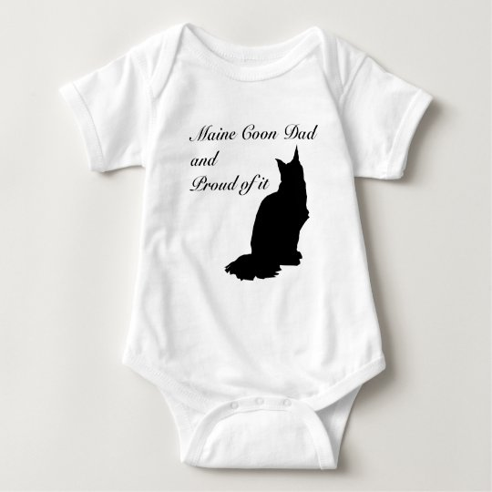 Maine Coon Dad Baby Bodysuit