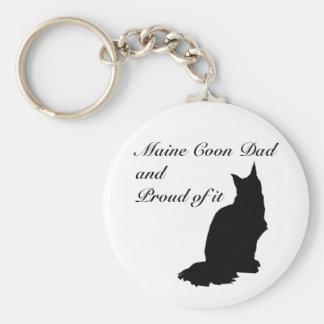 Maine Coon Dad Basic Round Button Keychain