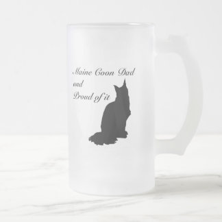 Maine Coon Dad Frosted Glass Beer Mug