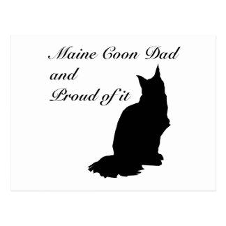 Maine Coon Dad Postcard