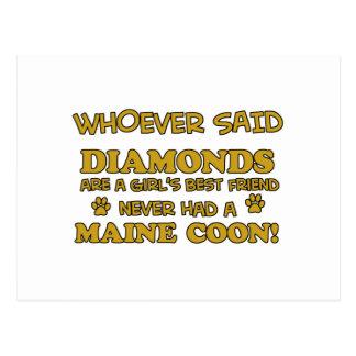 Maine coon designs postcard