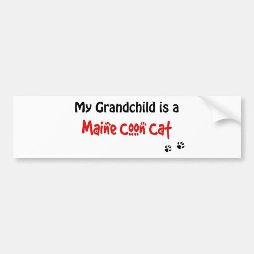 Maine Coon Grandchild Bumper Sticker