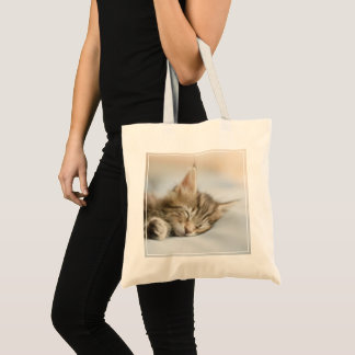Maine Coon Kitten Sleeping Tote Bag