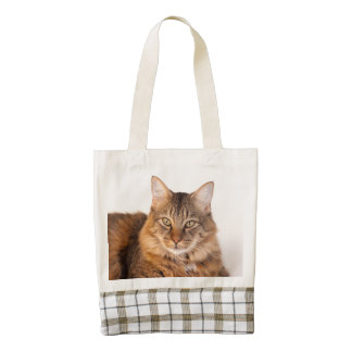 Maine Coon Kitty Zazzle HEART Tote Bag