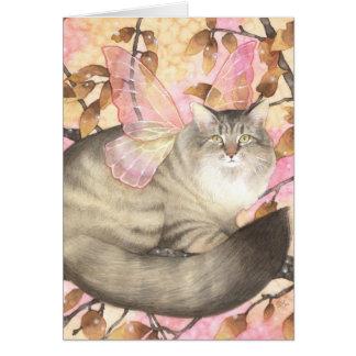 Maine Coon Magic - Fairy Cat Art Card
