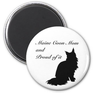 Maine Coon Mom 2 Inch Round Magnet