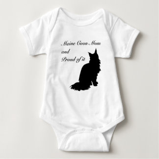 Maine Coon Mom Baby Bodysuit