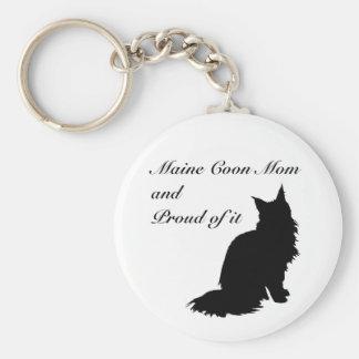 Maine Coon Mom Basic Round Button Keychain