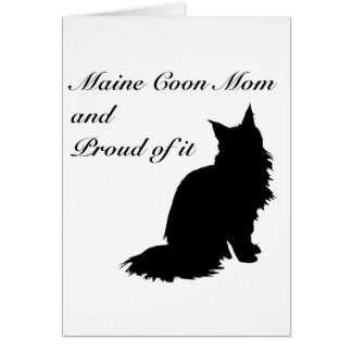 Maine Coon Mom Card