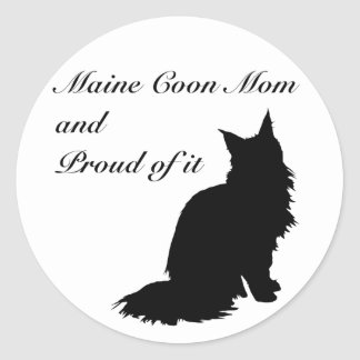 Maine Coon Mom Classic Round Sticker