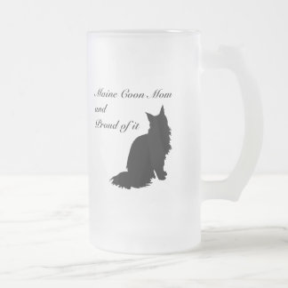 Maine Coon Mom Frosted Glass Beer Mug