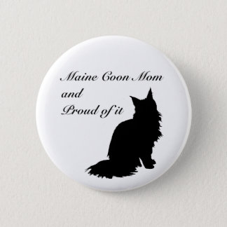 Maine Coon Mom Pinback Button
