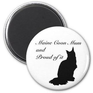 Maine Coon Mum 2 Inch Round Magnet