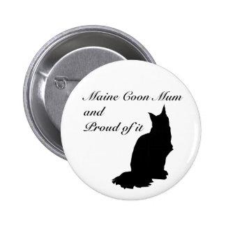 Maine Coon Mum Button