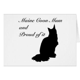 Maine Coon Mum Card
