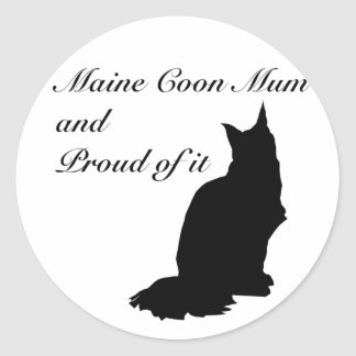 Maine Coon Mum Classic Round Sticker