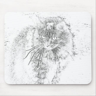 Maine Coon Outline Mouse Pad