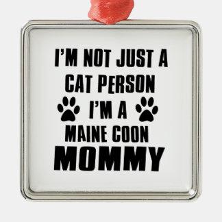 Maine Coon shirts Cat Design Metal Ornament