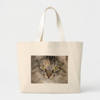 Maine Coon Tabby Cat Large Tote Bag