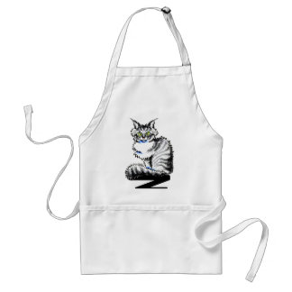 Maine Coon Tabby n White Off-Leash Art™ Adult Apron