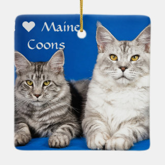 Maine Coons Cats Ceramic Ornament
