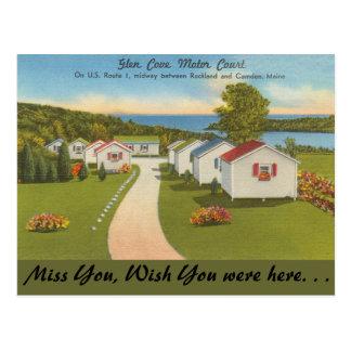 Maine, corte del motor de la ensenada de la tarjetas postales