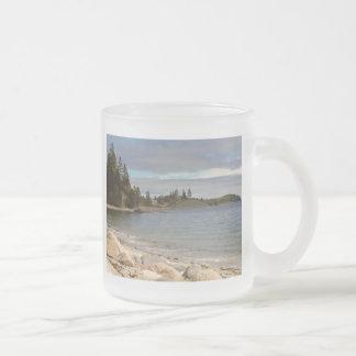 Maine costero taza de cristal