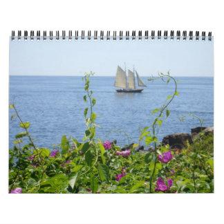 Maine costero calendarios de pared