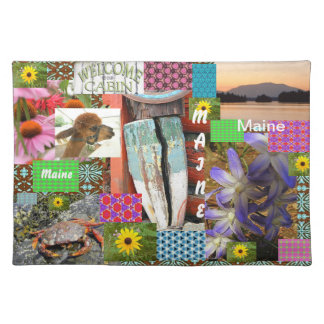 Maine Cotton collage placemats