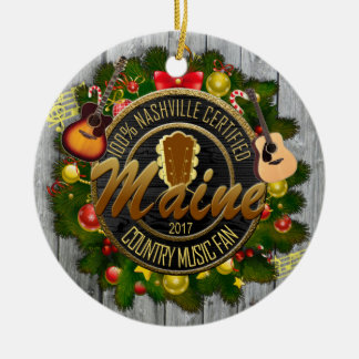 Maine Country Music Fan Christmas Ornament