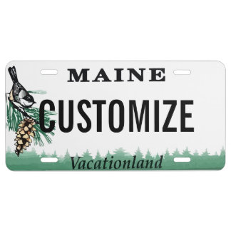 Maine Custom License Plate