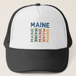 Maine Cute Colorful Trucker Hat