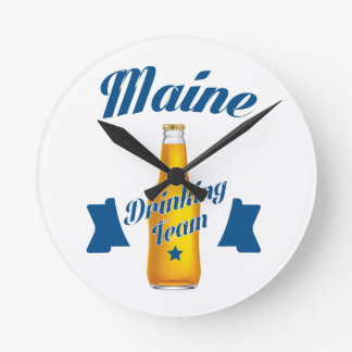 Maine Drinking team Round Clock
